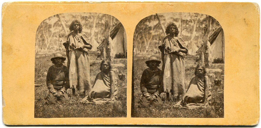 Aborigines Stereoview by William Stanley Jevons